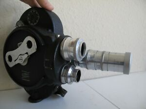 Cine 16mm Bell Howell Filmo 70 Mod D w/3 Lenses in Case + Many Accs
