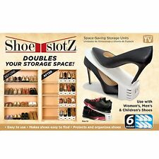 Shoe Slotz Space Saver - Set of 6 AS SEEN ON TV - Shoes Shelf Storage Rack NEW!