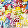 50/100pcs Plastic Mix Butterfly Buttons Sewing Craft Back Holes PT119