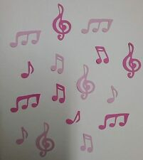 *MUSIC NOTES*. Die-cuts x 16 ~  2 Shades of Pink ..GREAT FOR SCRAPBOOKING/CARDS