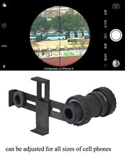Outdoor Rifle Scope Adapter Mount With Phone Clip Holder for Camera Cell Phone