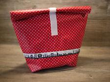 Lunchbag, Frühstücksbeutel, Pausenbrot,Lunchbox Tupfen auf rot, New York Skyline