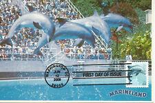 Dolphin Marine Mammal Wildlife Fdc Usa Maximum Card Scott #4388