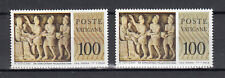 VATICANO 1977 Musei Vaticani L. 100 VARIETA' a DESTRA  COLORE OLIVA  + CAMPIONE