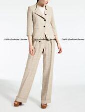 RRP €990🌟MAX MARA Blazer+Pants SUIT 100%FLAXLINEN  USA14_ IT48_D44_ GB16_FR46