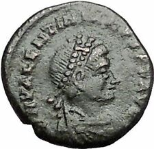 Valentinian II 388AD Rare Authentic Ancient Roman Coin City gate  i55884