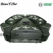 CREE 9X10W led mini spider beam moving head light/Quad-RGBW/tri-bars/dj show/bar