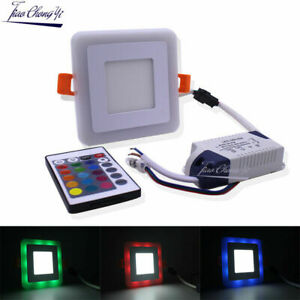 Home Decoration square Double Color LED Panel Light 6W 9W 18W 24W RGBW 110-240V