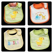 3p BIBS~NEW/NWT~CARTERS~SPRING~YELLOW DUCK~GIRAFFE~ELEPHANT~BIRD~BABY BOYS GIRLS