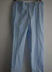 Brioni Men's Size 50 Light Blue Trousers Megeve Slim 100% Cotton
