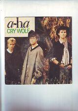 disque 45 tours A-ha - cry wolf - bon etat