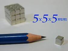 2 MAGNETI  NEODIMIO 5x5x5mm  CALAMITA   MAGNETE CALAMITE CUBO