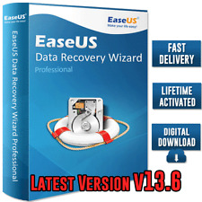 EaseUS Data Recovery Wizard v13.6 🔐Professional Lifetime License ✅Fast Delivery