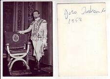 ANTONIOLI Doro, autografo con data al verso di foto del tenore