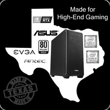 Handmade in the USA Custom PC Desktop Tower High End Gaming 9'th Gen Intel i7 i9