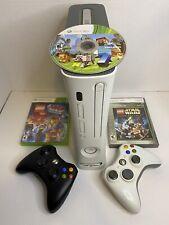 Microsoft Xbox 360 20Gb Console Bundle W/Cords 2 Controllers & 3 Games