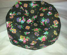 "EXTRA LARGE bean bag beanbag chair for 18"" American Girl doll flowers denim"