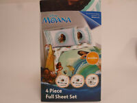 Disney Moana Full Size Bed Sheet Set 4 Piece Bedding Sheets