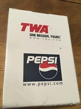 Playing Cards TWA Airlines Vintage NEVER OPENED Aviation Factory Sealed Pepsi