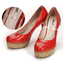 1 Pair Transparent Invisible High Heel Shoe Straps For Holding Loose Shoes