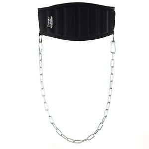 Protone weightlifting dip belt with chain - dipping belt with back support