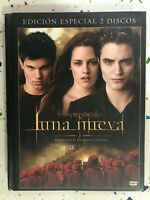 LA SAGA CREPUSCULO LUNA NUEVA EDICION ESPECIAL 2 DVD + LIBRO AM ESPAÑOL INGLES