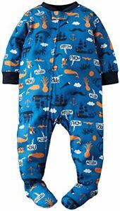 Carter's boy's 18 month blue orange ahoy matey pirate footie pajamas