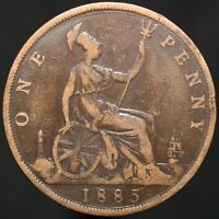 1885   Victoria One Penny   Bronze   Coins   KM Coins