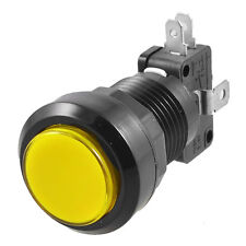 24mm Yellow Illuminated Momentary Push Button SPDT Micro Switch DT