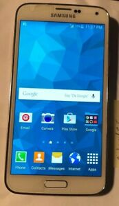 Samsung Galaxy S5 SM-G900R4 Cell Phone (US Cellular) White Fast Ship MINT Used