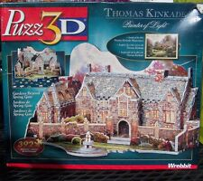 Thomas Kinkade Puzz 3D Gardens Beyone Spring Gate 392 Pieces Wrebbit NEW in Box