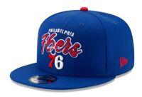 Philadelphia 76ers New Era 9Fifty Retro Script Blue Adjustable Snapback Hat