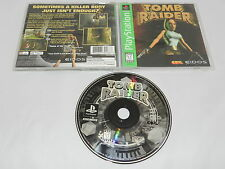 Tomb Raider Sony Playstation PS1 Video Game Complete