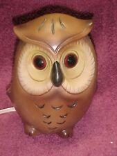 Vtg Josef Originals Ceramic Owl Night Light Lamp Figurine Japan Electric Big Eye