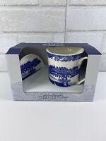 Spode Blue Italian 12 Oz Ceramic Mug & Coaster Set NEW
