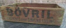 More details for original bovril wood box  advertising food vintage storage kitchen