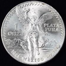 1985 Mexican Libertad 1oz. Troy .999 Silver - Bright White BU -