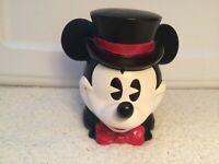 "Disney Mickey Mouse Musical Figurine Head Enesco Porcelain ""Puttin On The Ritz"""