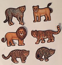 Wild Little Jungle Cats - Iron On Fabric Appliques