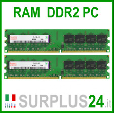 HYNIX RAM 4Gb (2x2Gb) PC2-6400U DDR2-800Mhz 240pin Memoria x DESKTOP No Ecc