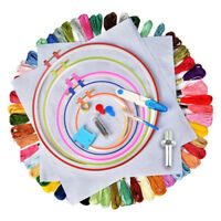 50xCross Stitch Embroidery Starter Kit Craft DIY Tool Colorful Thread Fabric-Set