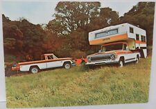 1974 74 PICKUP TRUCK CAMPER HUNTER JEEP 4X4 AMC DEALERSHIP DEALER PROMO POSTCARD