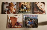 Kenny Chesney Dixie Chicks Tracy Byrd Jennifer Hanson lot of 4 country music CDs