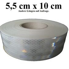 (12,00€/m) 10cm Geocaching selbstklebende 3M Reflektorfolie weiß Diamond Grade™