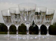 Baccarat - Service de 6 verres à vin rouge en cristal modèle Côte d'Azur. Signés