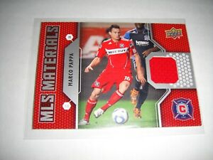 2011 Upper Deck Soccer Marco Pappa Material Card NM/MT Game Used Chicago Fire