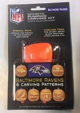 Baltimore Ravens Pumpkin Carving Kit Halloween Stencils for Jack-O-Lantern