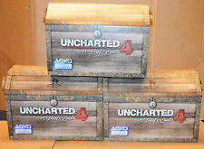 Set of 3 Rare Uncharted 4 Promotional Display Chests - NO GAME