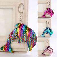 Shiny Moda Jewelry Ragazza Bambini Regali Dolphin Portachiavi Ciondolo Bors E6W1