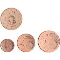 1 - 2 e 5 cent Lettonia 2014 centesimii Stemma Semplice Fior di Conio 3 monete!!